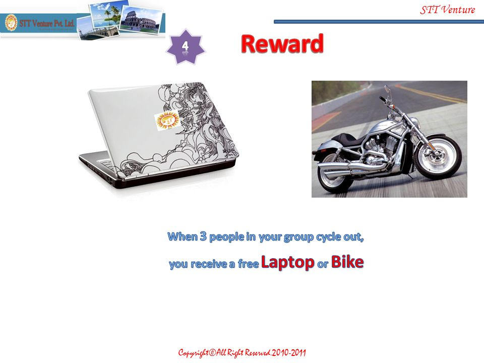 Reward 4 When 3 people in your group cycle out,