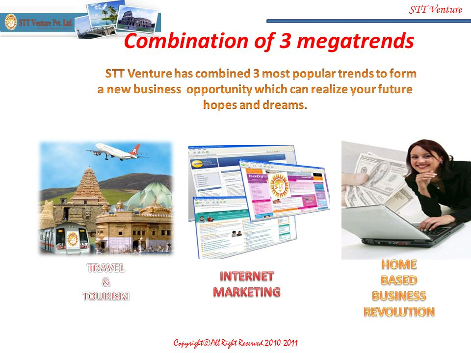 Combination of 3 megatrends