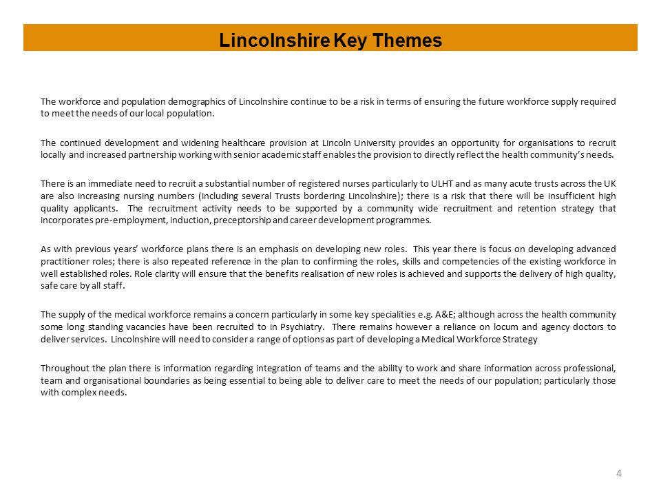 Lincolnshire Key Themes