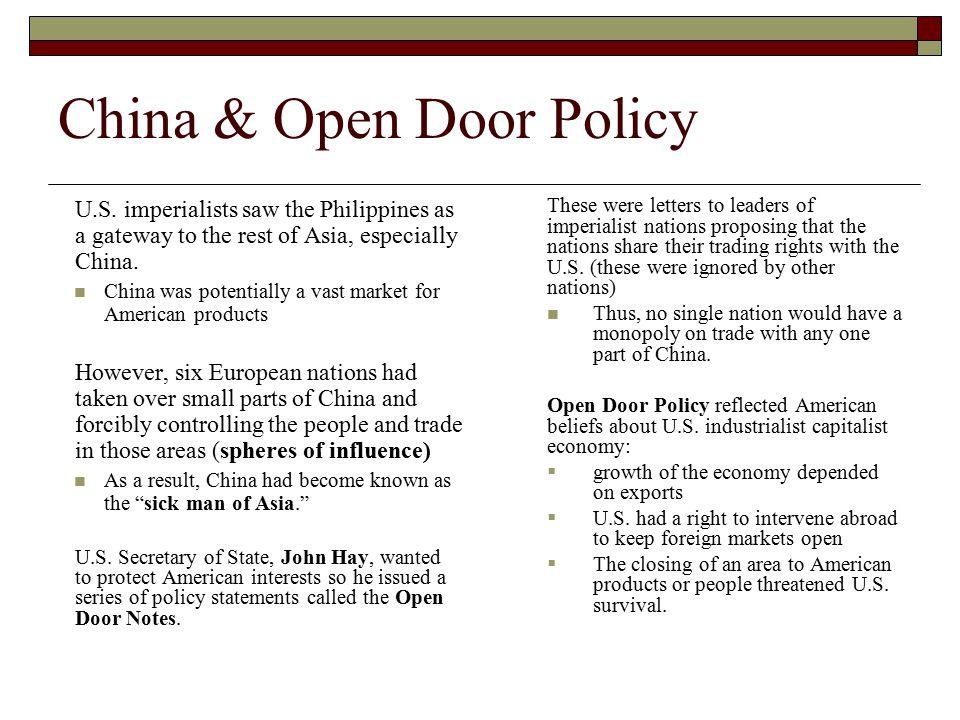 China & Open Door Policy