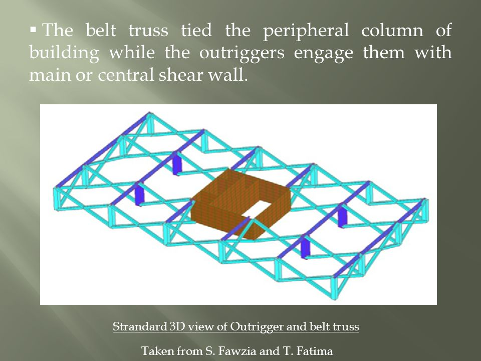 The Efficient Use Of Outrigger And Belt Truss Ppt Video