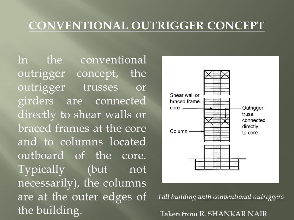 CONVENTIONAL OUTRIGGER CONCEPT
