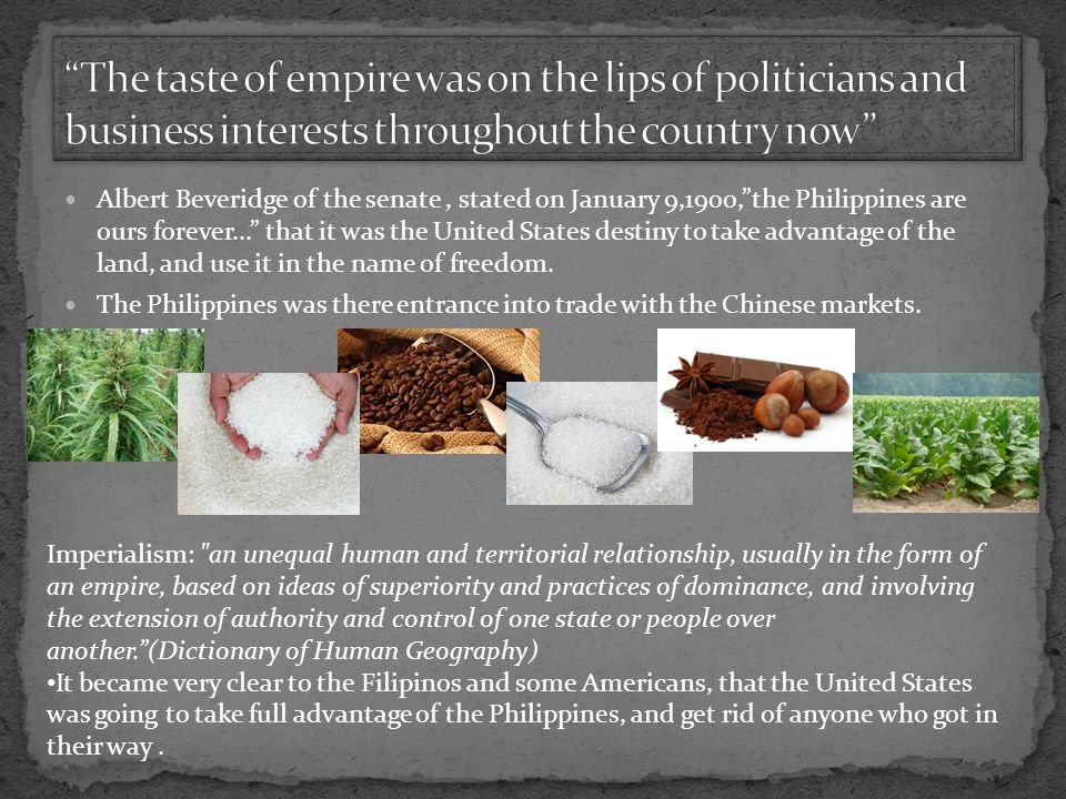 The taste of empire was on the lips of politicians and business interests throughout the country now