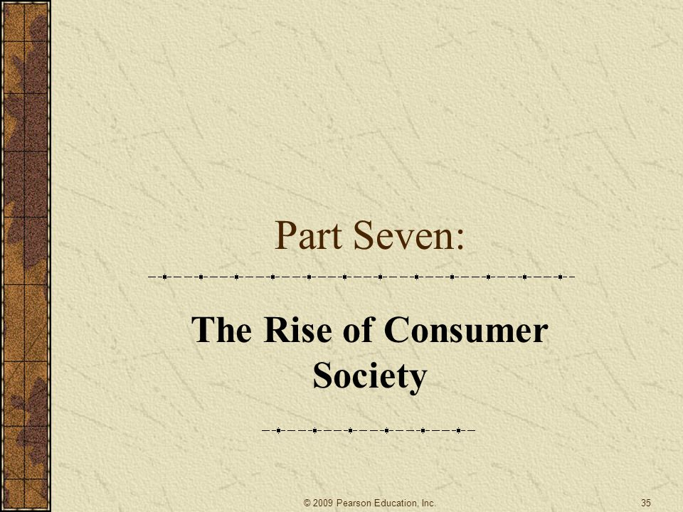 The Rise of Consumer Society