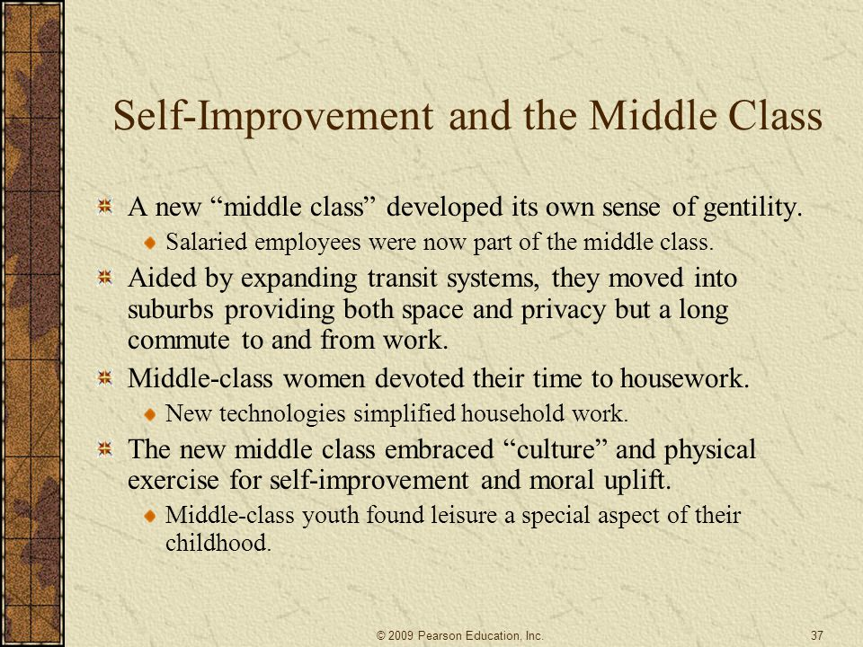 Self-Improvement and the Middle Class