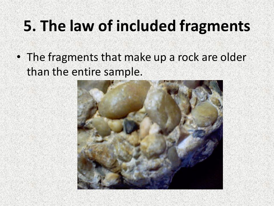 5. The law of included fragments