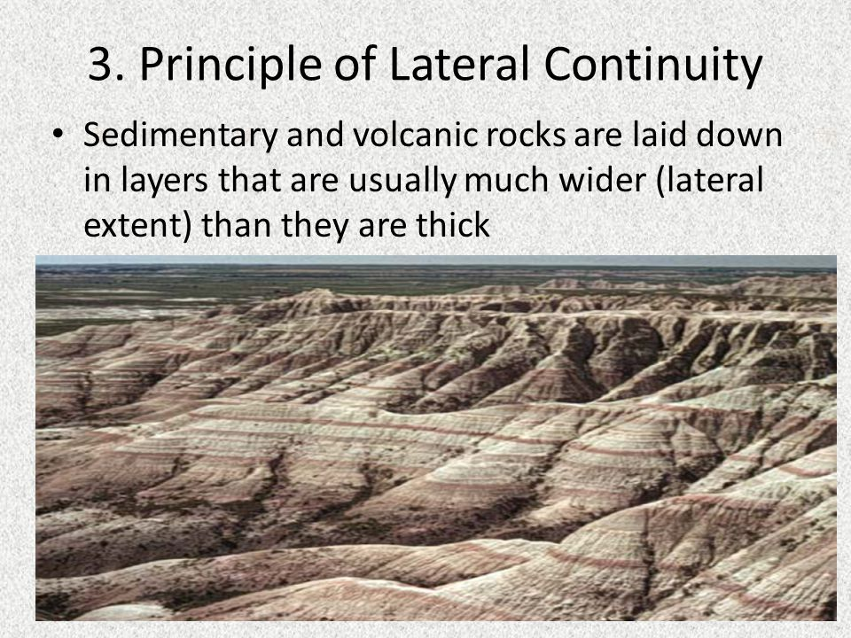3. Principle of Lateral Continuity