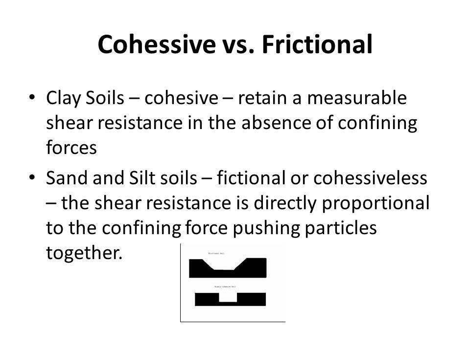 Cohessive vs. Frictional