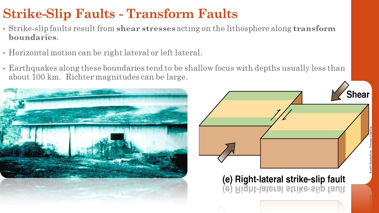 Strike-Slip Faults - Transform Faults