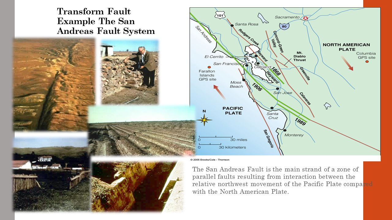 Transform Fault Example The San Andreas Fault System