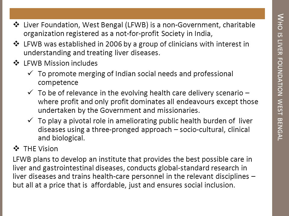 Who is liver foundation west bengal