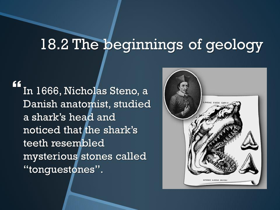 18.2 The beginnings of geology