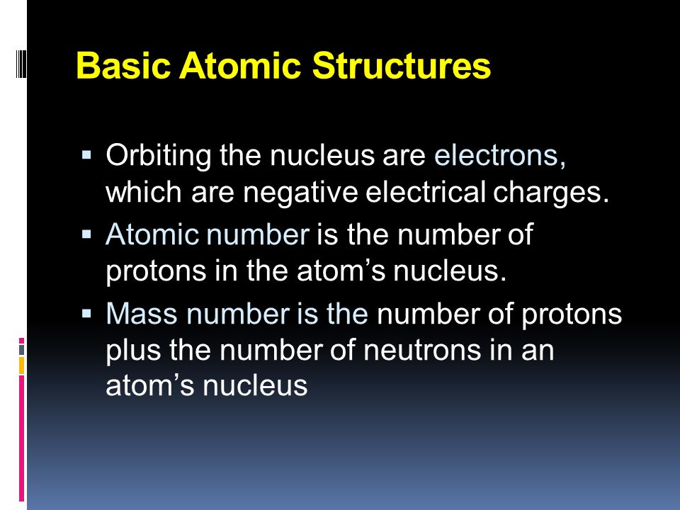 Basic Atomic Structures