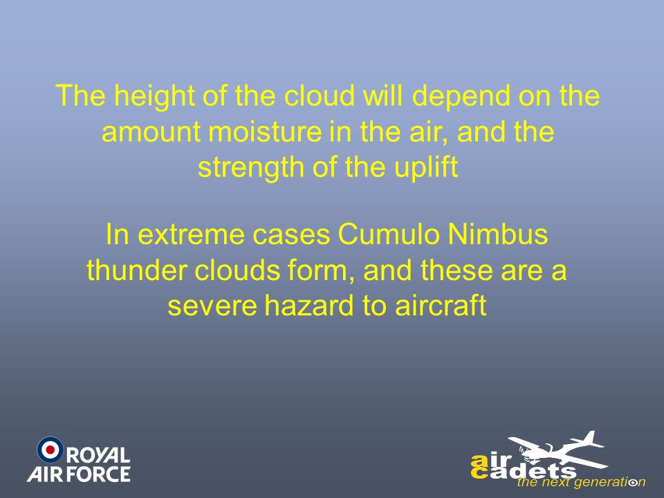 The height of the cloud will depend on the amount moisture in the air, and the strength of the uplift