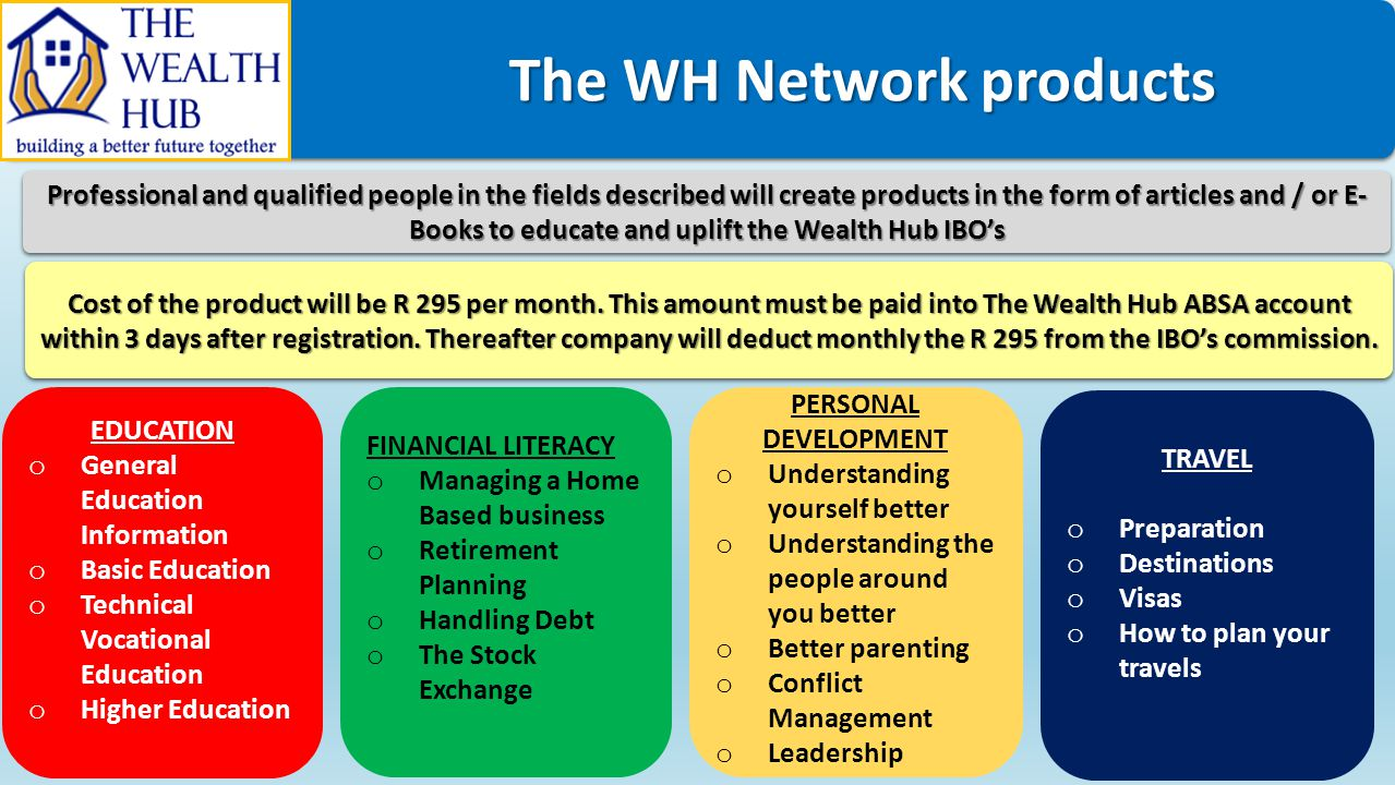The WH Network products