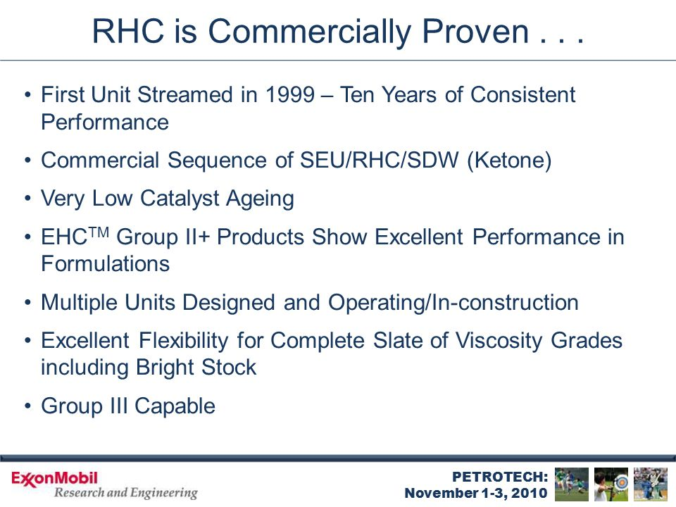 First RHC Unit Streamed in 1999