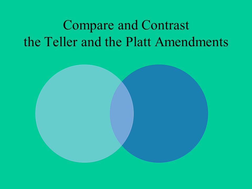 Compare and Contrast the Teller and the Platt Amendments