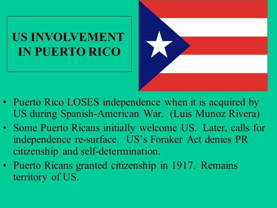 US INVOLVEMENT IN PUERTO RICO