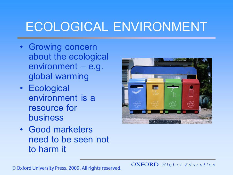 ECOLOGICAL ENVIRONMENT