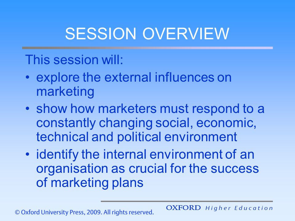 SESSION OVERVIEW This session will: