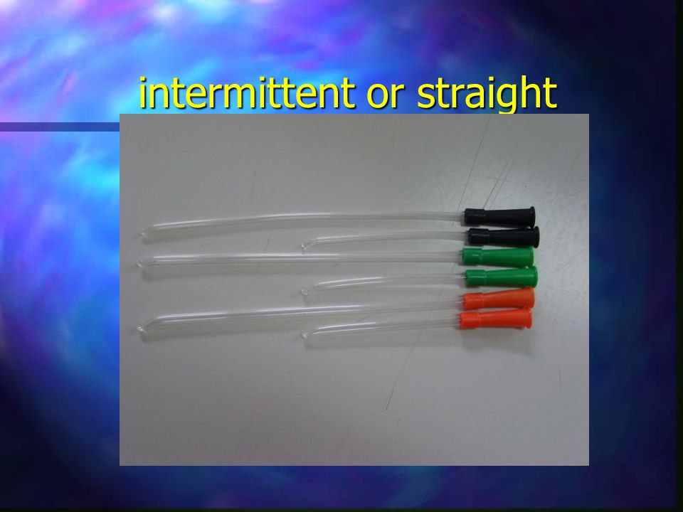 intermittent or straight