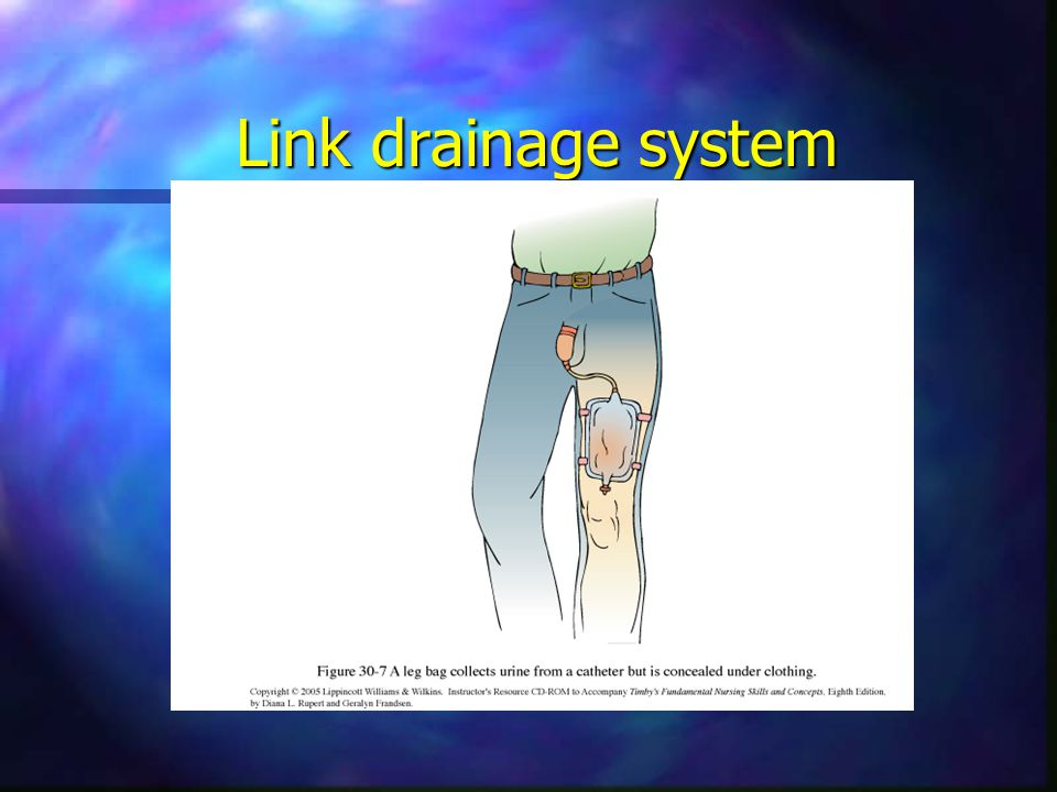 Link drainage system