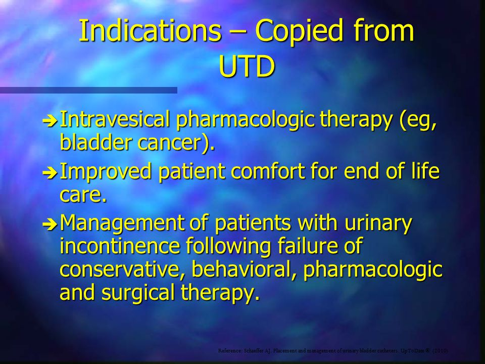Indications – Copied from UTD