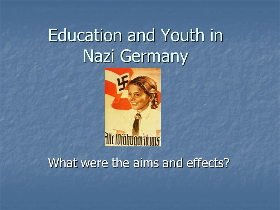 Education and Youth in Nazi Germany