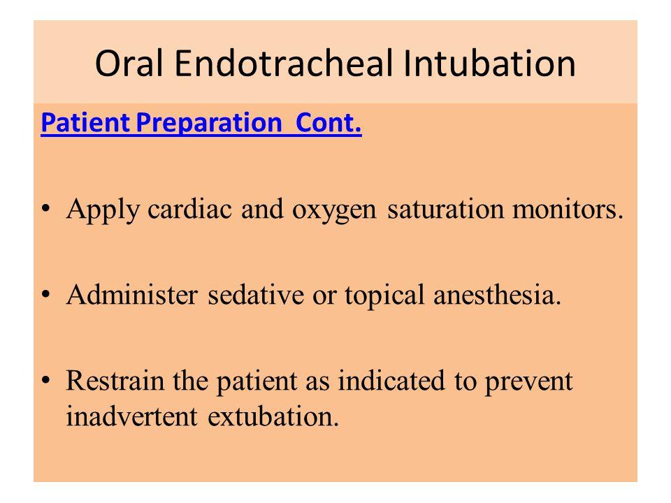 Oral Endotracheal Intubation