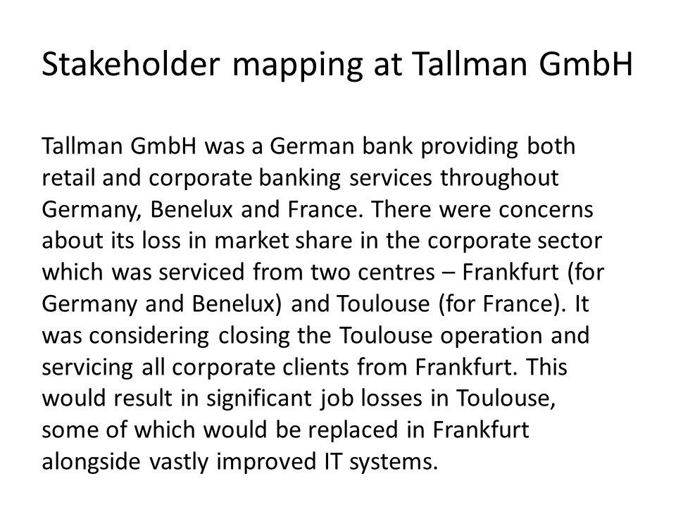 Stakeholder mapping at Tallman GmbH