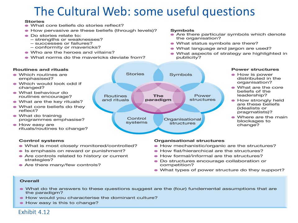 The Cultural Web: some useful questions