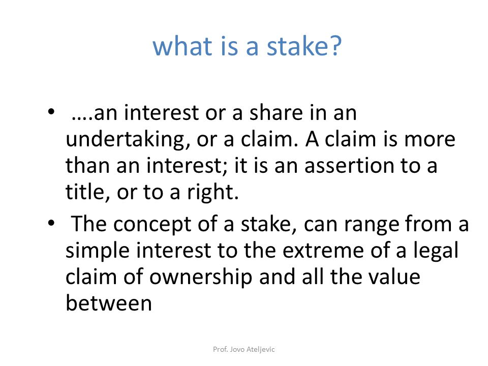 what is a stake