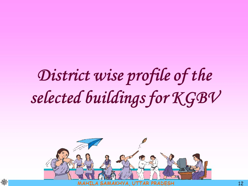 District wise profile of the selected buildings for KGBV