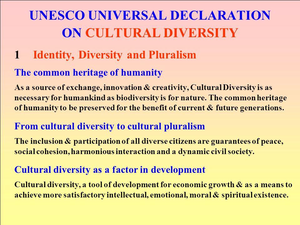 UNESCO UNIVERSAL DECLARATION