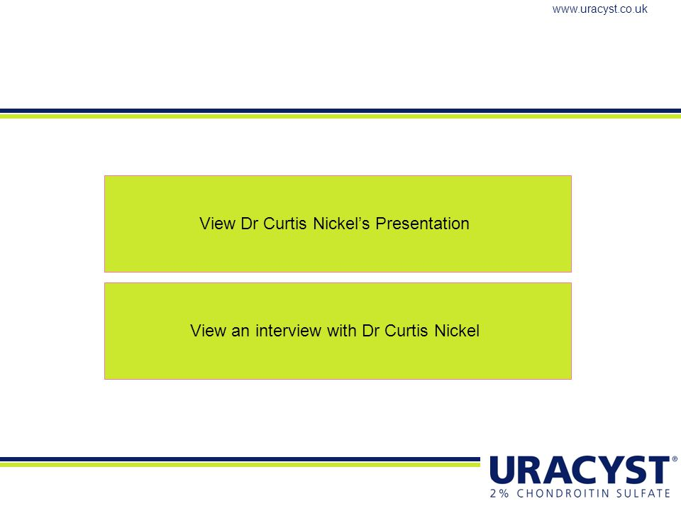 View Dr Curtis Nickel's Presentation