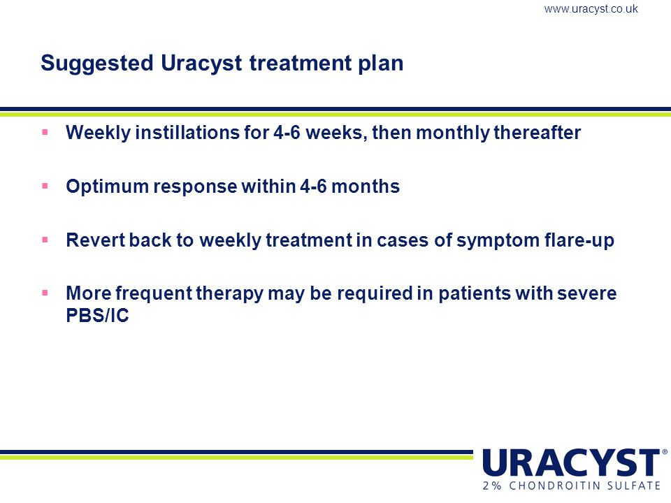 Suggested Uracyst treatment plan