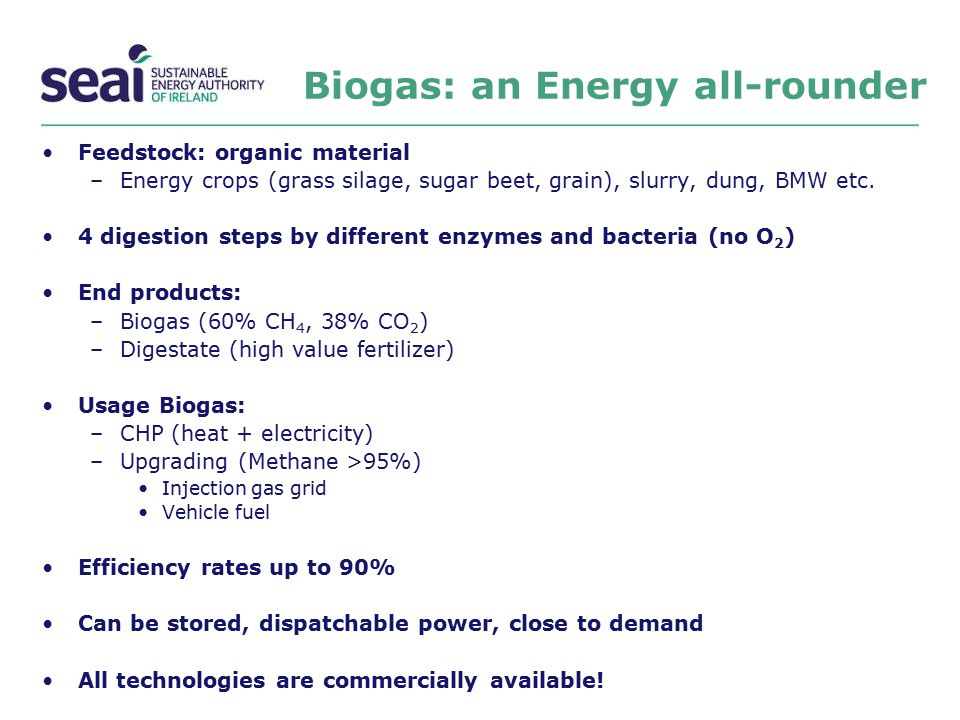 Biogas: an Energy all-rounder