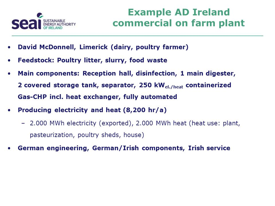 Example AD Ireland commercial on farm plant