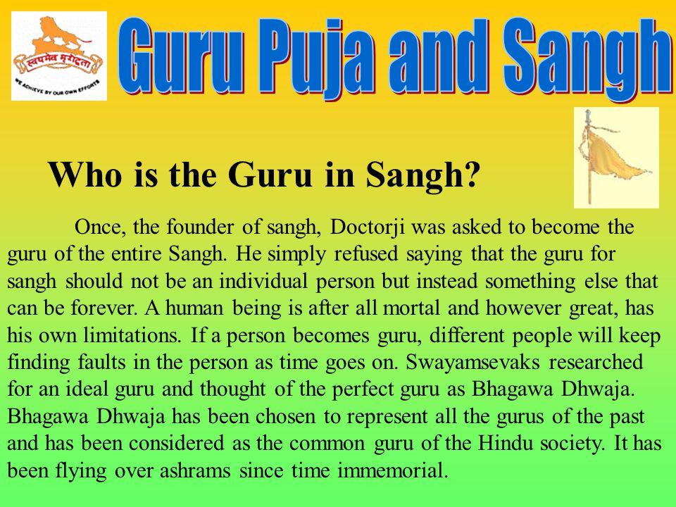 Who is the Guru in Sangh Guru Puja and Sangh