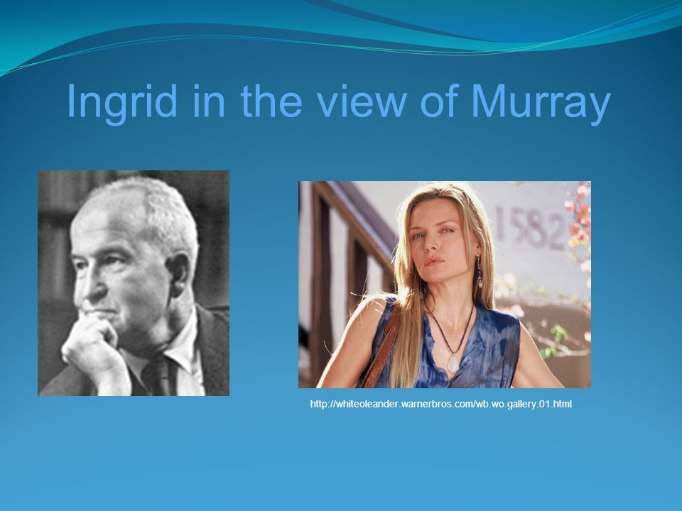 Ingrid in the view of Murray