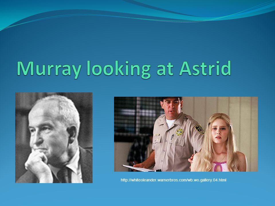 Murray looking at Astrid