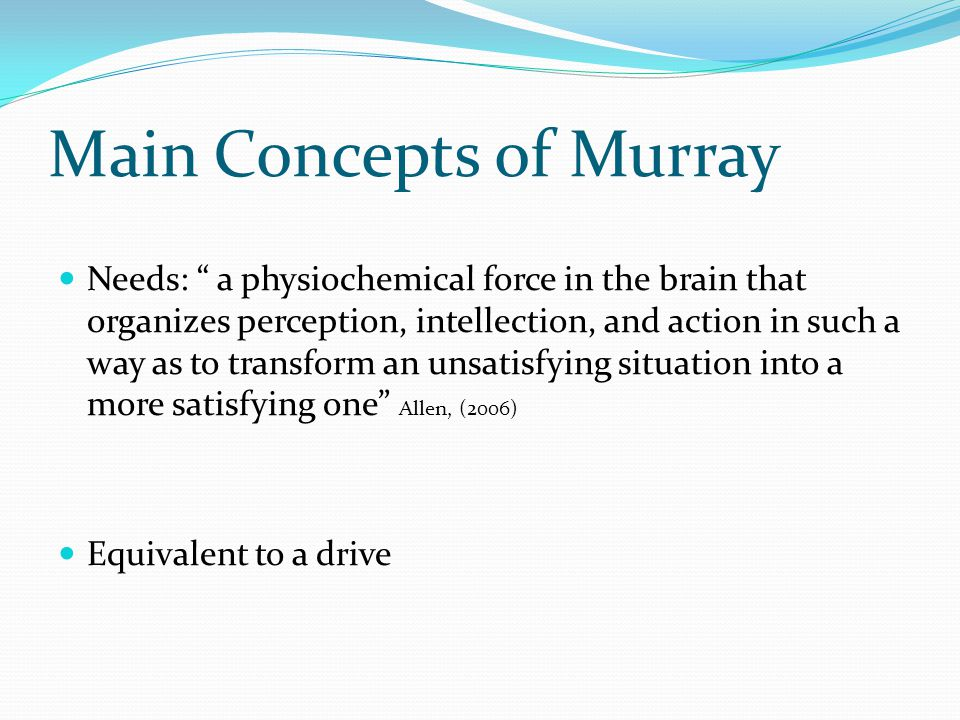 Main Concepts of Murray