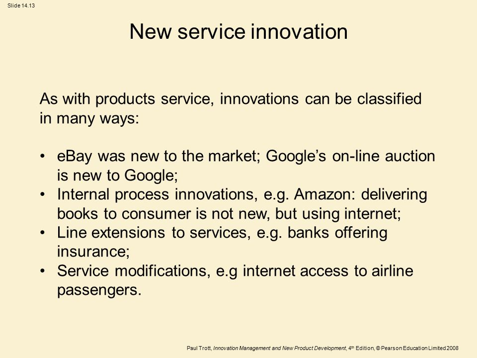 New service innovation