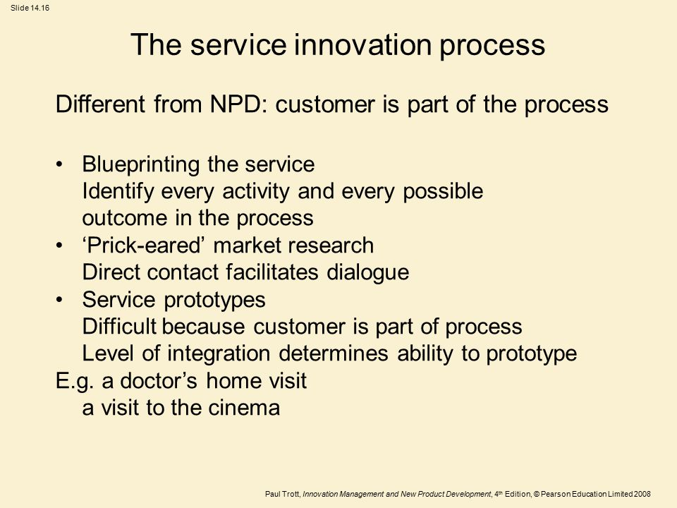 The service innovation process
