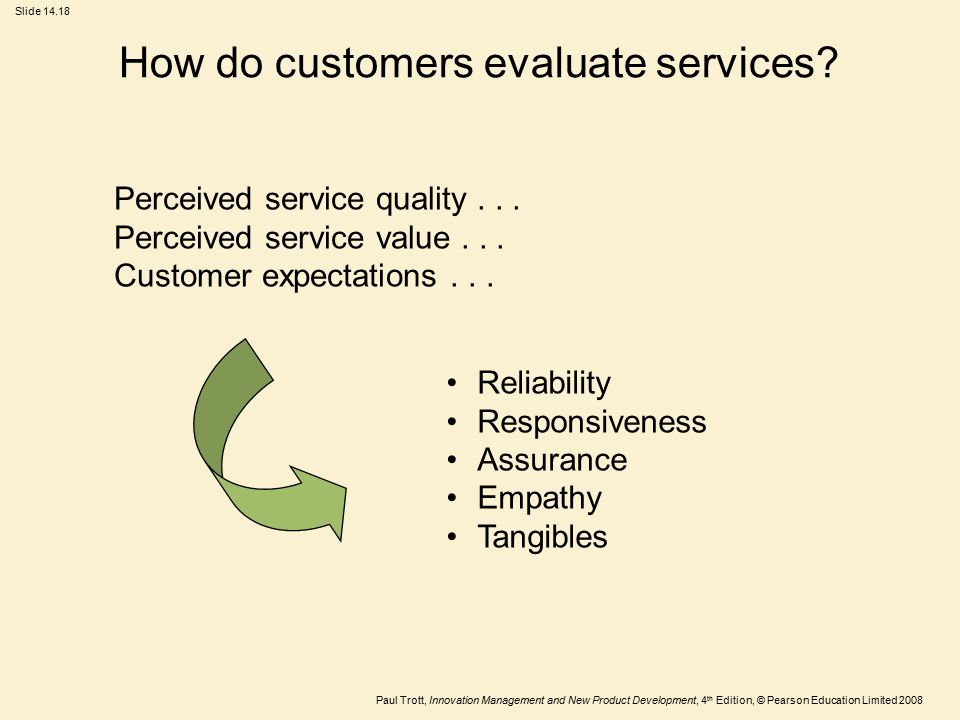How do customers evaluate services