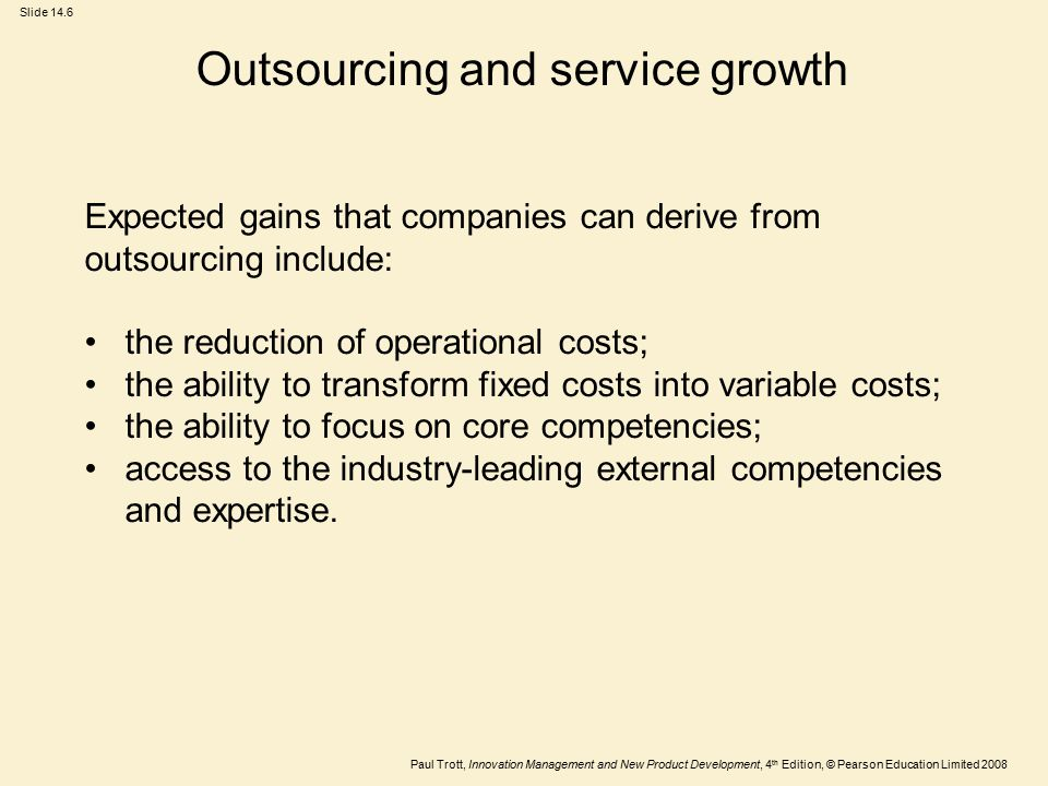 Outsourcing and service growth