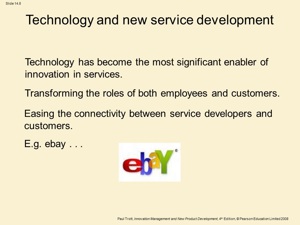 Technology and new service development