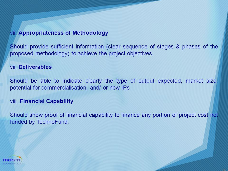 vii. Appropriateness of Methodology
