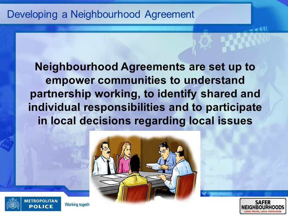 Developing a Neighbourhood Agreement