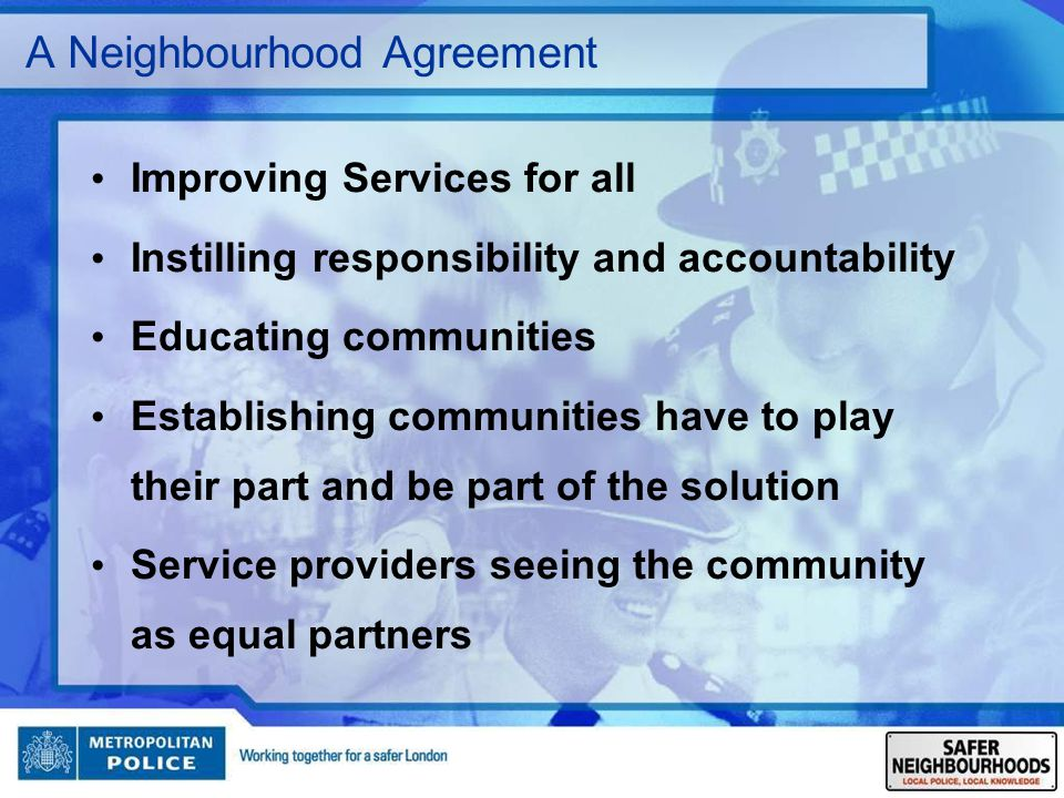 A Neighbourhood Agreement